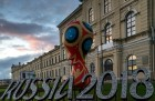 2018 FIFA World Cup emblem installed in St Petersburg