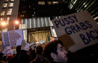 Protest against Donald Trump in New York