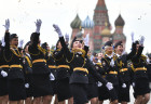 Prom of students of Kikotya Moscow University of Ministry of Internal Affairs on Red Square