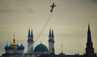 Preparing for Red Bull Air Race stage in Kazan