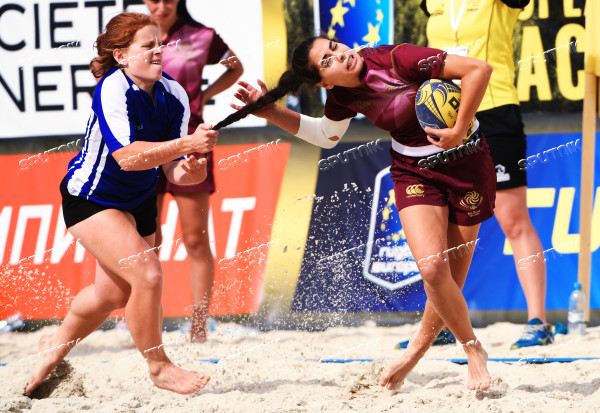 European Beach Fives Rugby Championship. Day one