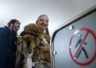 Game of Thrones characters ride in Moscow metro