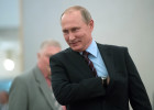 Russian President Vladimir Putin casts his vote on Unified Voting Day