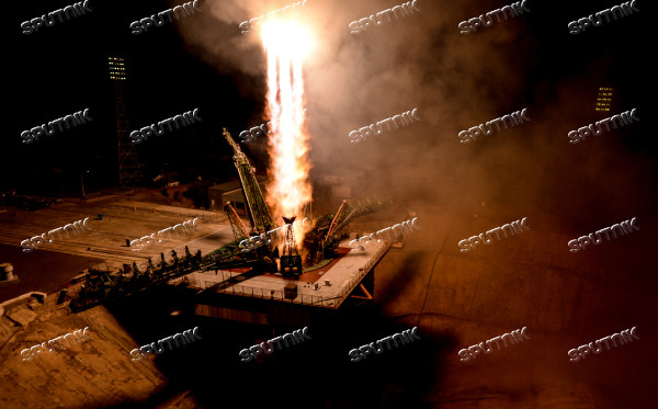 Launch of Soyuz-FG carrier rocket with manned Soyuz MS-06 spacecraft