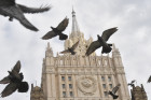 Russian Foreign Ministry building's spire reconstructed