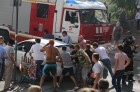 Ten-storied building cought fire in Rostov-on-Don