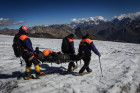 Emergencies Ministry's high-mountain search and rescue team in action in Kabardino-Balkaria