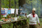 Mari native religion followers hold prayer service in sacred grove
