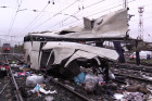 Train collides with bus at railway crossing in Vladimir Region
