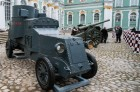Installing armored car Enemy of Capital at the Great Courtyard of the Winter Palace
