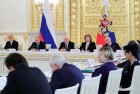 President Vladimir Putin meets with members of Presidential Council for Civil Society and Human Rights
