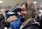Welcoming Russian children, rescued in Syria, at Grozny Airport