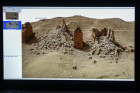 Presenting 3D model of damaged Palmyra city in St. Petersburg