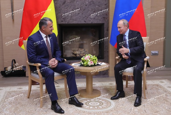 Russian President Vladimir Putin meets with President of South Ossetia Anatoly Bibilov