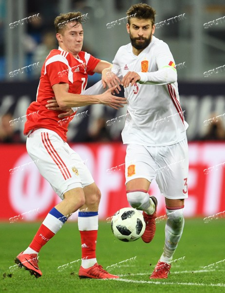 Football. Friendly match between Russia and Spain