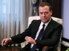 Prime Minister Dmitry Medvedev meets with the WHO Director-General