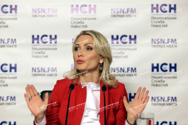 News conference with Yekaterina Gordon