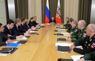 President Vladimir Putin holds meeting with senior officials of Defense Ministry, military companies, heads of ministries and regions