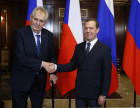 Prime Minister Dmitry Medvedev meets with President of Czech Republic Milos Zeman