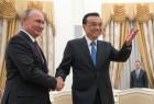 Russian President Vladimir Putin meets with Premier of People's Republic of China Li Keqiang