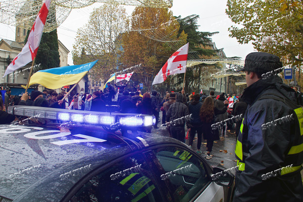 Rally in support of Mikheil Saakashvili in Tbilisi