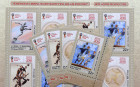 Four postage stamps featuring football in art are put in circulation