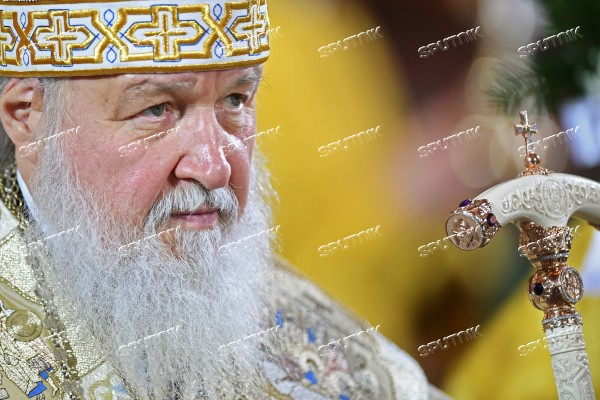 Christmas. Patriarch celebrates liturgy at Christ the Savior Cathedral in Moscow
