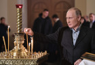 President Putin attends Christmas service