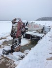 Gas tank truck with 20 tonnes of fuel falls through ice on Lena river