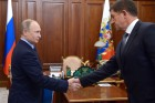 Russian President Vladimir Putin meets with Rostelecom President Mikhail Oseyevsky