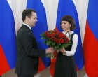 Prime Minister Dmitry Medvedev presents government awards to journalists