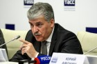 News conference of presidential candidate Pavel Grudinin in St. Petersburg