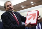 Submitting signatures in support of Boris Titov's registration as presidential candidate