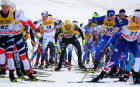 Cross-country skiing. Tour de Ski. Men. Mass start