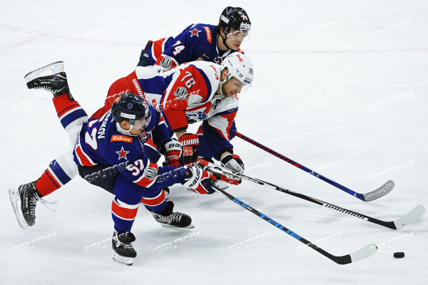 Ice hockey. Kontinental Hockey League. SKA vs. Lokomotiv