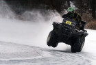 Motorcycle ice racing in Vladivostok