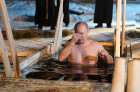 President Vladimir Putin takes part in Epiphany bathing on Lake Seliger