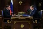 Russian PM Dmitry Medvedev meets with Federal Agency for Fisheries Chief Ilya Shestakov