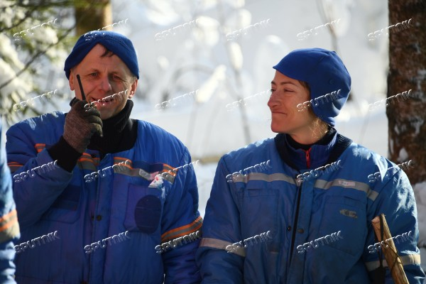 ISS crew's winter forest survival training