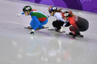 2018 Winter Olympics. Short track speed skating. Day two