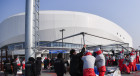 Strong wind prompts evacuation from press center in Pyeongchang Olympic Village