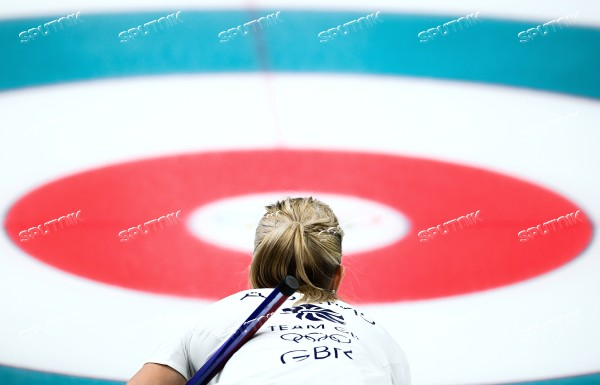 2018 Winter Olympics. Curling. Women. Russia vs. Great Britain