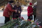 Flowers in memory of An-148 airplane crash victims