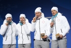 2018 Winter Olympics. Award ceremony. Day nine