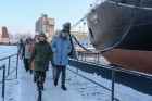 Presidential candidate Ksenia Sobchak speaks in Murmansk Region
