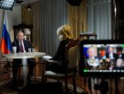 President Vladimir Putin gives an interview to NBC network