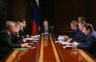Prime Minister Dmitry Medvedev holds meetigh with deputy prime ministers