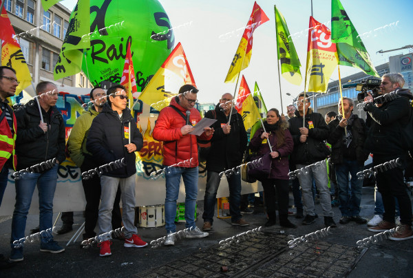 Rail workers' protest in France