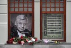 Moscow residents lay flowers in memory of Oleg Tabakov