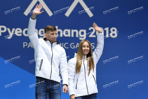Paralympics 2018. Medals ceremony. Day four